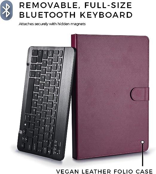 Amazon.com: Funda para tablet con teclado inalámbrico ...