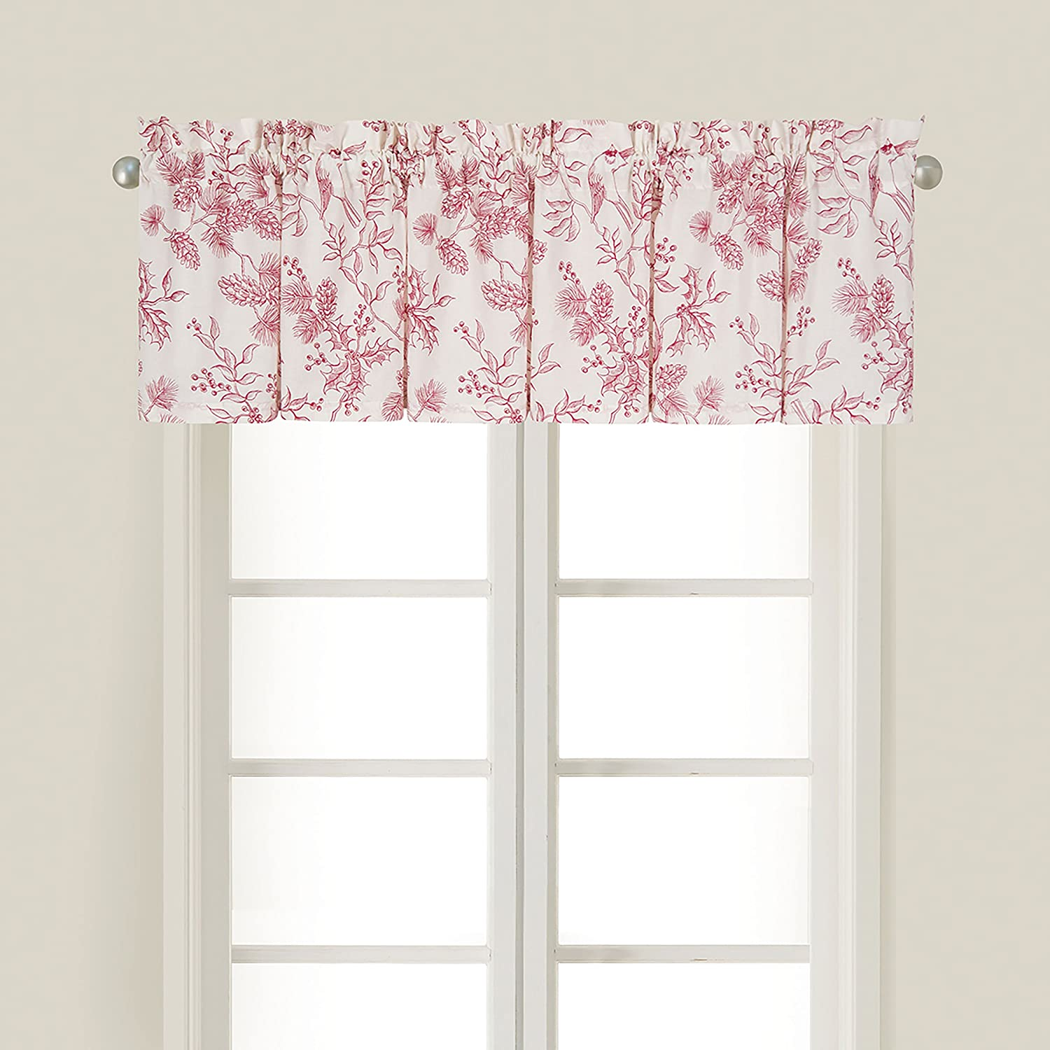 C&F Home 15.5x72 Inches, Evergreen Toile Valance