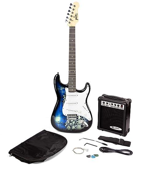 Paquete de guitarra eléctrica estilo Jaxville Reaper ST