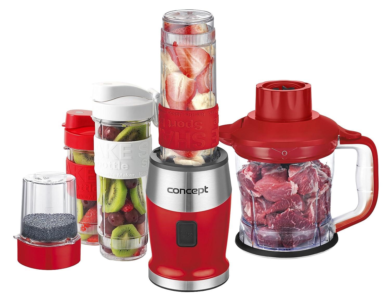 Concept Electrodomésticos SM3392 Batidora de Eléctrico, 700 W, 1.2 Litros, Acero Inoxidable, Rojo: Amazon.es: Hogar