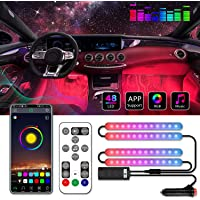 Car Interior Lights, Music Syn 16 Million Color Change Interior Car Lights, Car LED Strip Lights Interior with App and…