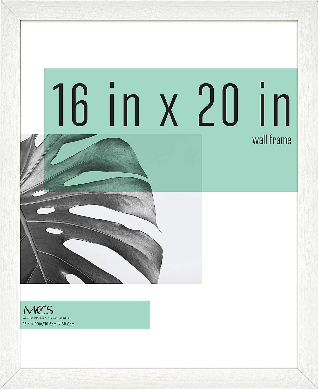 MCS Industries Studio Gallery Frames, 16x20 in, White Woodgrain