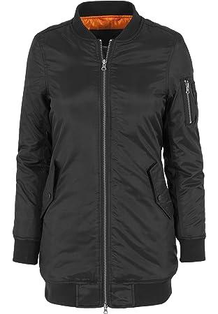 nouveau produit 4c3ab cce09 Urban Classics Jacke Long Bomber Jacket Blouson Femme