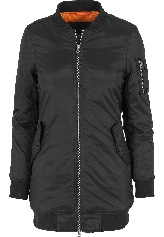 TALLA XS. Urban Classics Jacke Long Bomber Jacket, Chaqueta para Mujer