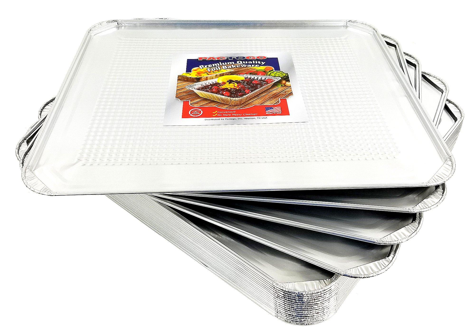 Pactogo Aluminum Foil Oven Liner Sheet Pan 20/Pk - 18'' x 15'' Disposable Sheets (Pack of 20)