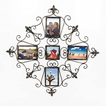 Home Decor Accents elegant home accents decor accents garden decor elegant home accessories Adeco Pf0600 5 Opening Metal Photo Picture Collage Frame Antique Vintage Style Classy