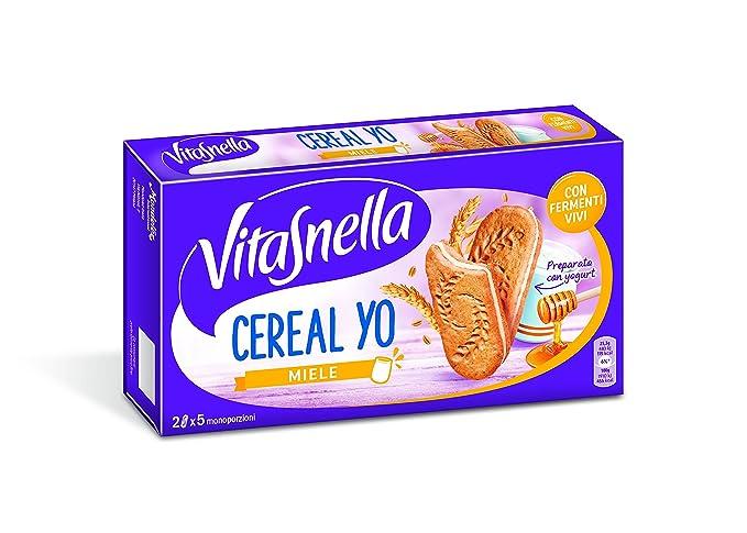 vitasnella – cereal-yo, galletas con miel, 5 monoporzioni