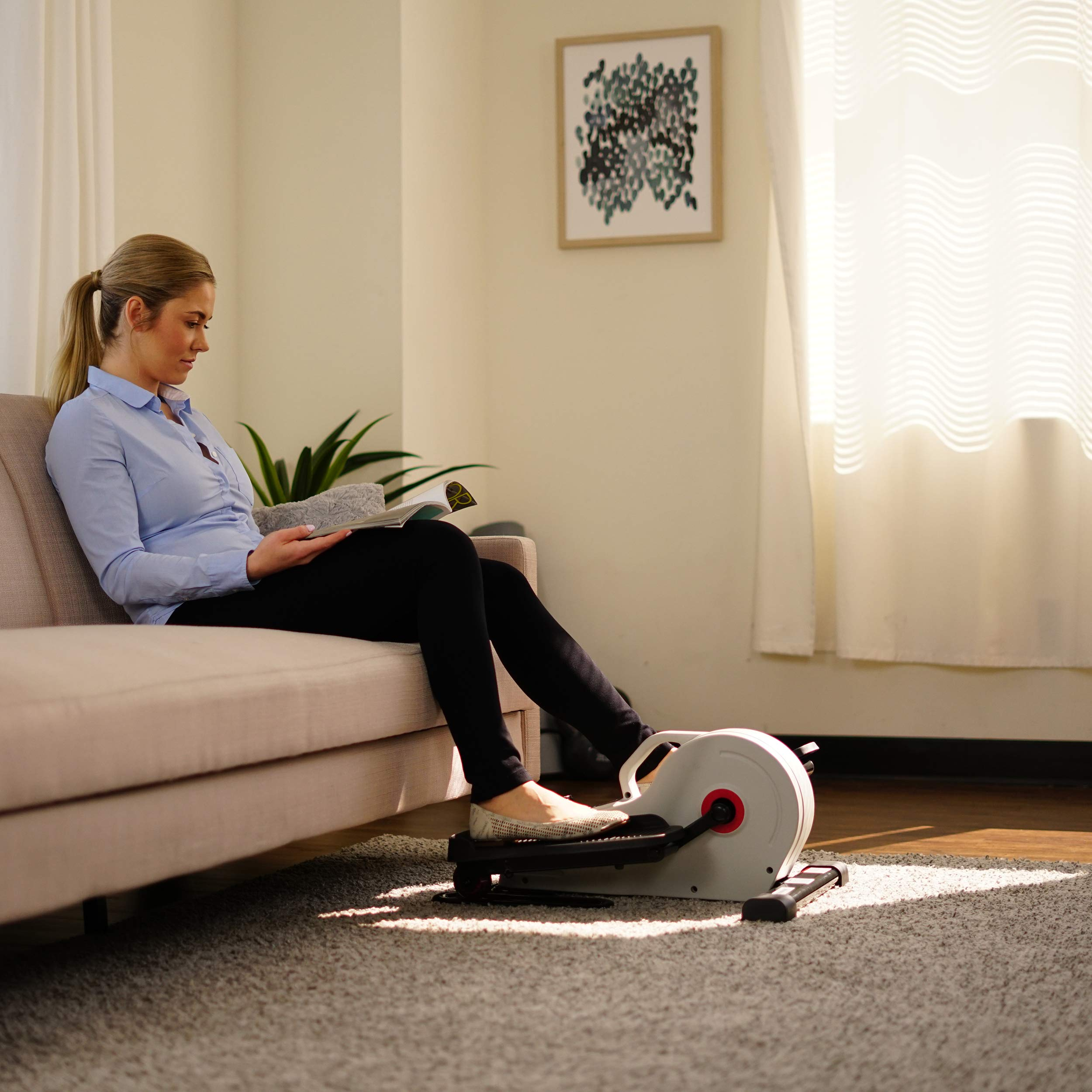 Sunny Health & Fitness Fully Assembled Magnetic Under Desk Elliptical - SF-E3872 by Sunny Health & Fitness (Image #15)