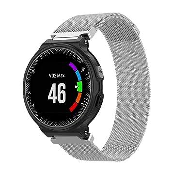 T Bluer Watch Band Compatible Garmin Forerunner 235 Strap Milanese