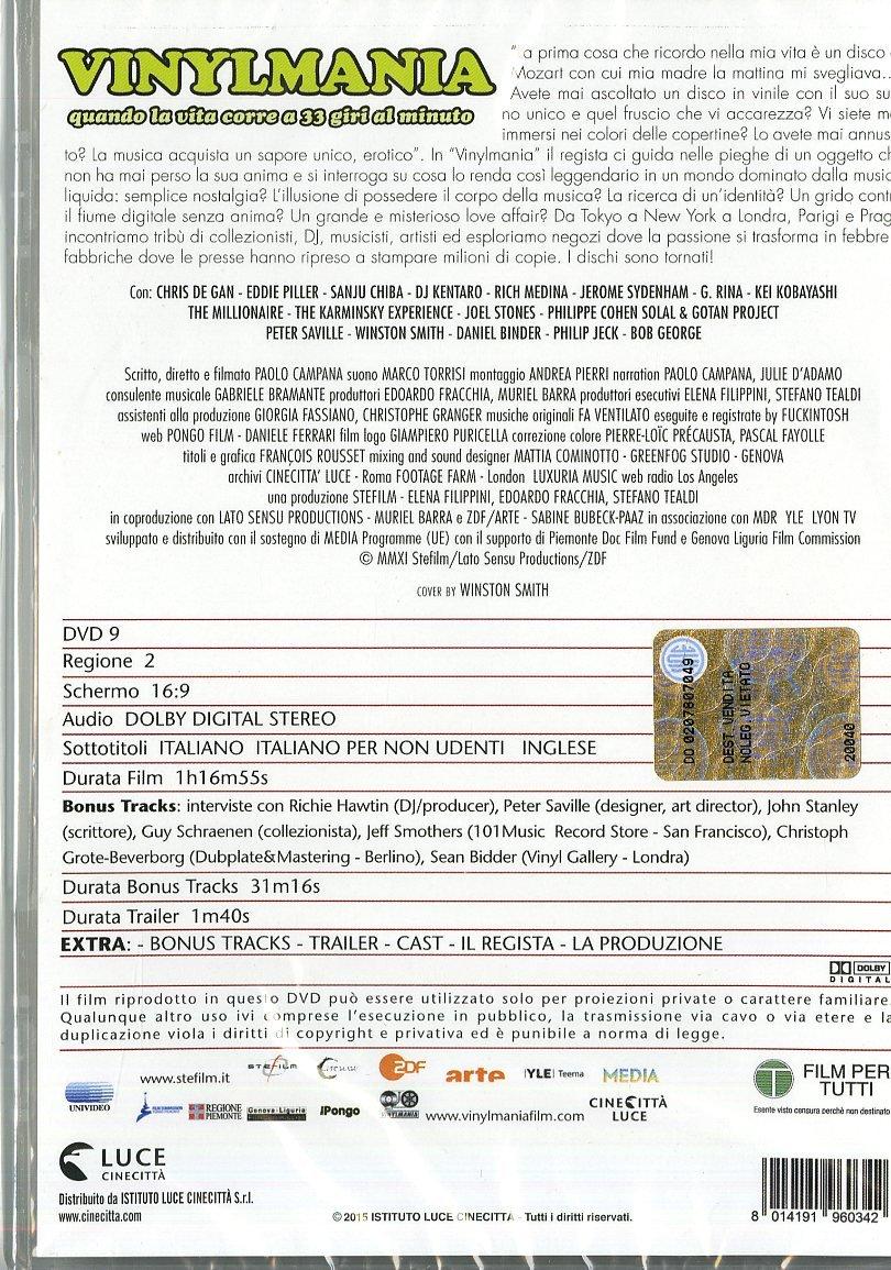 Vinylmania [Italia] [DVD]: Amazon.es: Paolo Campana: Cine y Series TV