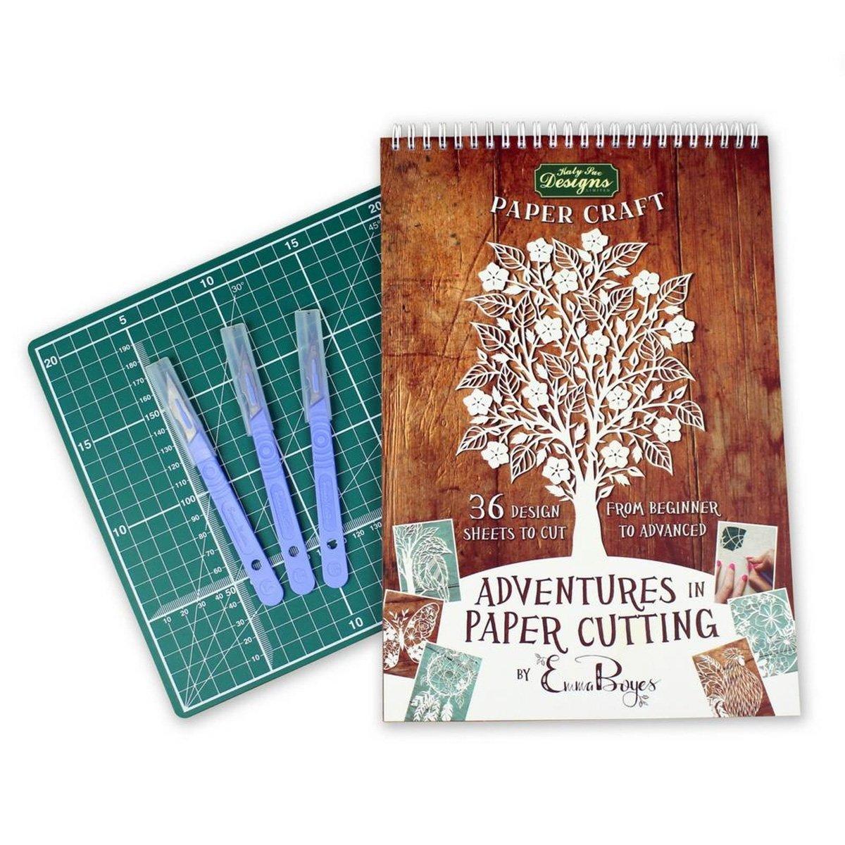 Paper cutting kit–Papercut modelli, design e modelli–perfetto per principianti: trasformare un singolo pezzo di carta in un' opera d' arte–parte della serie avventure di Emma Boyes Katy Sue Designs