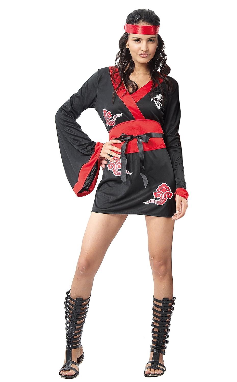 FIORI PAOLO - Ninja Girl disfraz mujer adulto Womens, Negro ...