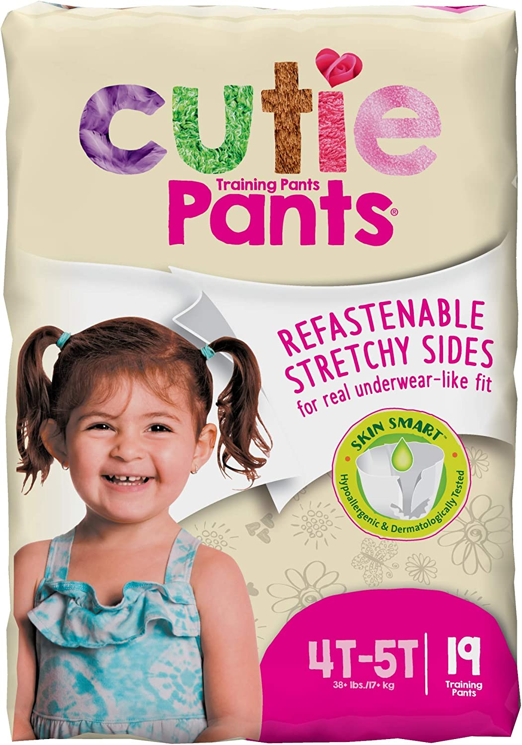 26 Count Cuties Training Pants Boy Pack of 4 White//Blue