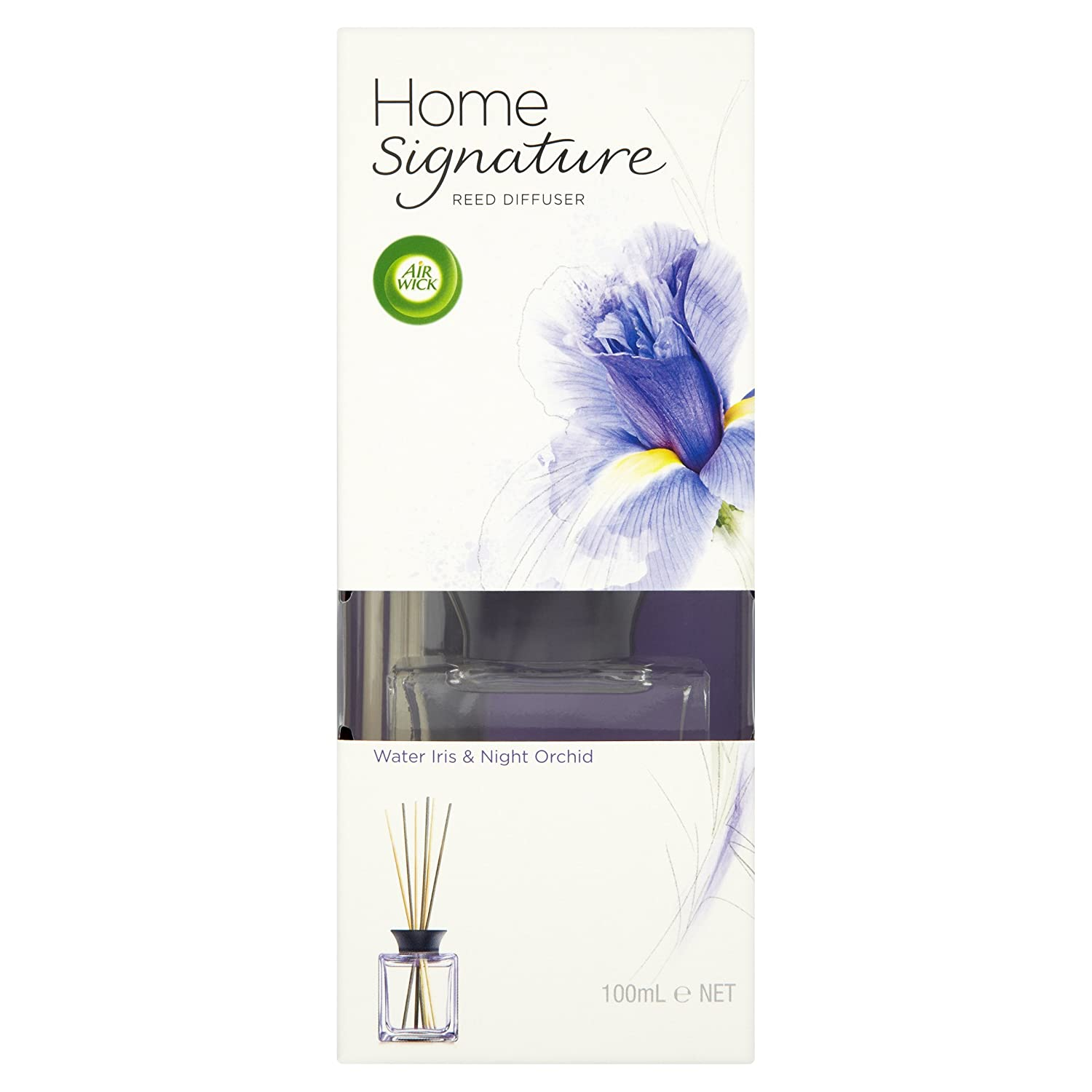 Air Wick Reed Diffuser Water Iris and Night Orchid 100 ml (Pack of 2)