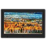 Apzka 7 Zoll HD Digitaler Bilderrahmen MP3- und Video-Wiedergabe mit Autodrehung/Kalendar/Uhr Funktion mit Fernbedienung (7-Zoll Schwarz)