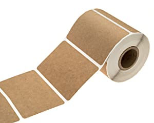 "2"" x 3"" Brown Kraft Rectangle Color Code Labels/Permanent Adhesive/Write On Labels - 250 Labels"