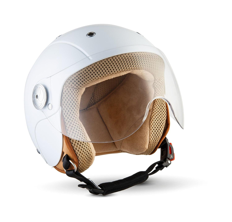 SOXON SK 55 Kids Snow · Roller Helm Kinder Helm Mofa Chopper Retro Vintage Pilot Motorrad Helm Cruiser Helmet Vespa Helm Jet Helm Biker Bobber Kids
