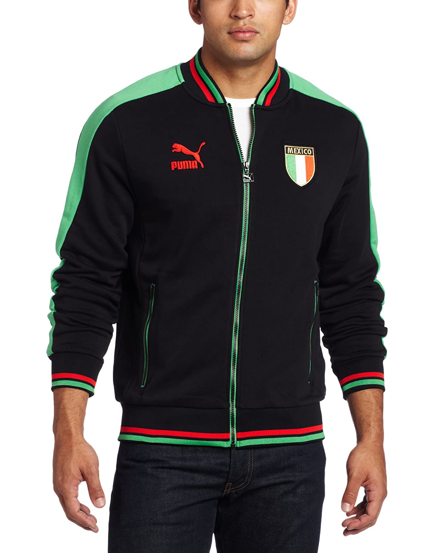 PUMA Mens Country t7 bb Track Jacket Black//Mexico Medium Puma Apparel 56289503