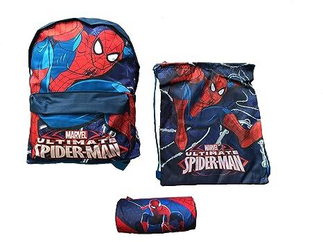 Spiderman 3 Juego de Pieza: Mochila Bolsa + Pool + Sport Kit