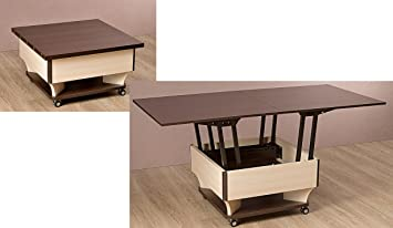 Transformer Coffee Table.Mobelana Oak Coffee Table Transformer Wenge Kitchen H45 5 Cm 75 Cm