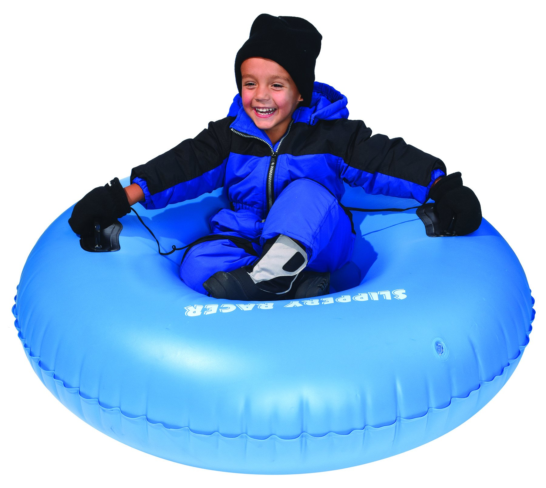Slippery Racer Airraid Inflatable Snow Tube Sled, Blue by Slippery Racer