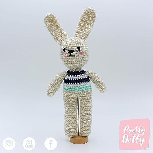 Como hacer un conejito amigurumi orejas largas en versión niño | 500x500