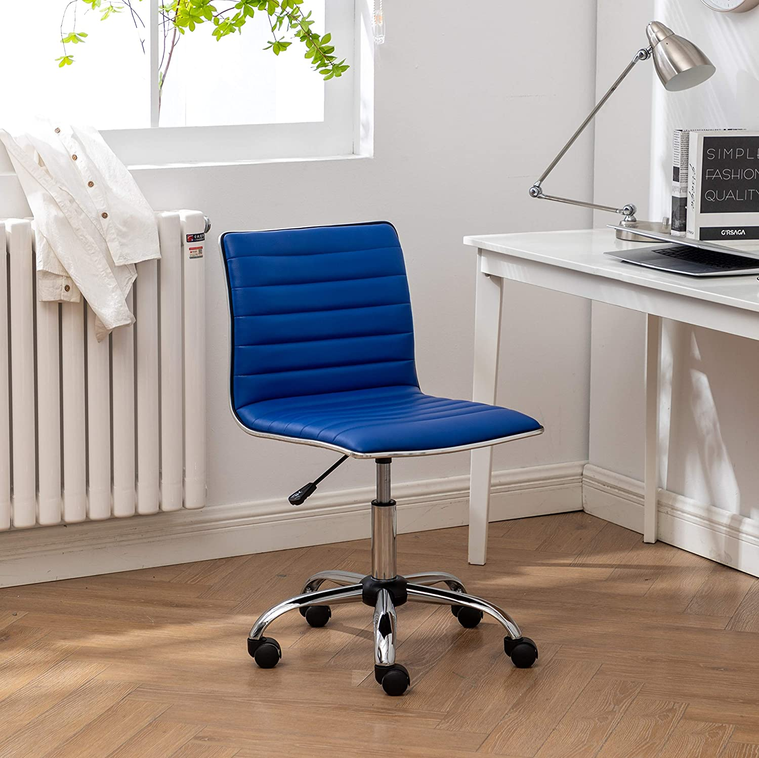 Roundhill Furniture Fremo Adjustable Air Lift Office Chair, Blue