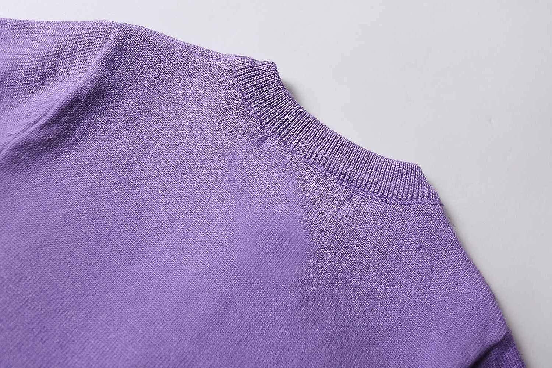ZHUANNIAN M/ädchen-Schul-Strickjacke Schulkleidung mit Perlenkn/öpfen Uniform lang/ärmelig