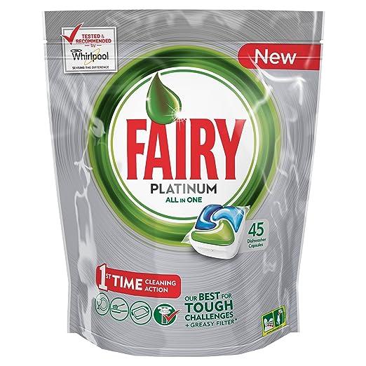 53 opinioni per Fairy Platinum Caps per Lavastoviglie, Confezione da 45