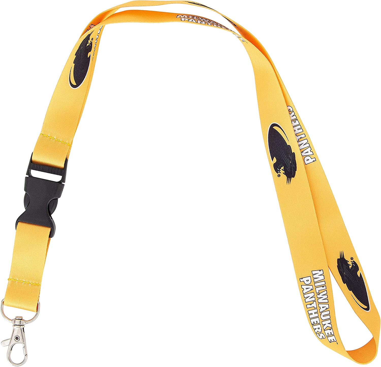 Oakland University Golden Grizzlies NCAA Car Keys ID Badge Holder Lanyard Keychain Detachable Breakaway Snap Buckle