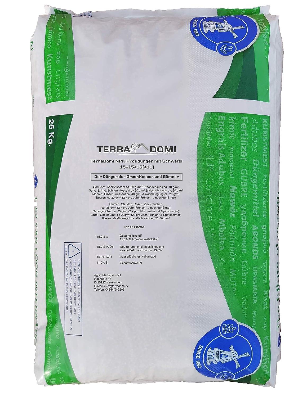 NPK Fertilizante 15 - 15 - 15, 25 kg Fertilizante de pasto ...