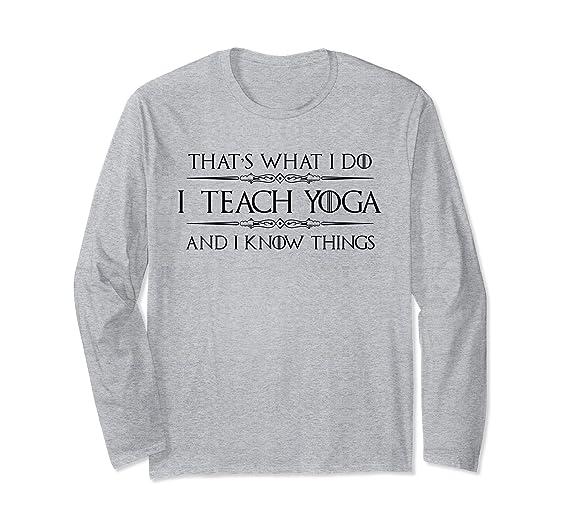 Amazon.com: Yoga Teacher Instructor Shirt - I Teach Yoga & I ...