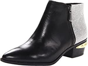 Circus by Sam Edelman Women's Holt Ankle Boot, Black/White, 9 M US