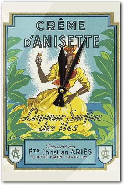 Crema d anisette licor Surfine des iles marca etiqueta de ...