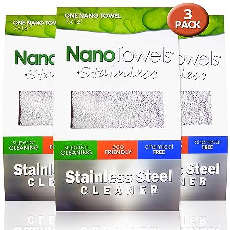 Amazon.com: Paquete de 3 limpiadores de acero inoxidable ...