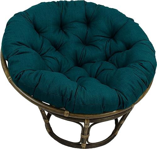Blazing Needles 52-inch Indoor/Outdoor Papasan Cushion Sea Blue Specialty