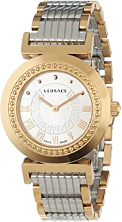 Versace Womens P5Q80D499 S089 Vanity Rose-Gold Ion-Plated Stainless Steel Watch