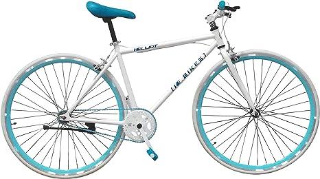 Helliot Bikes Soho 02 Fixie, Adultos Unisex, Blanco, Talla Única: Amazon.es: Deportes y aire libre