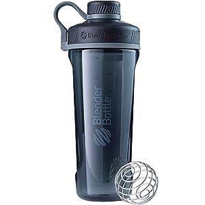 BlenderBottleRadian Tritan Shaker Bottle, Black, 32-Ounce