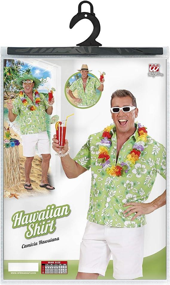 WIDMANN Camisa Hawaiana verde hombre XL: Amazon.es