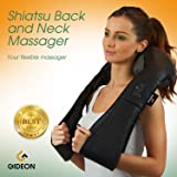 Gideon™ Portable Shiatsu Massager for Back, Neck, Shoulder and Feet with Therapeutic Heat / Multi-Directional Massage, Relax, Sooth and Relieve Neck, Shoulder, Back and foot Pain
