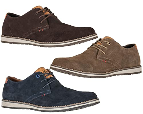 48f271d245 Mens Genuine Real Suede Leather Smart Casual Shoes: Amazon.co.uk: Shoes &  Bags