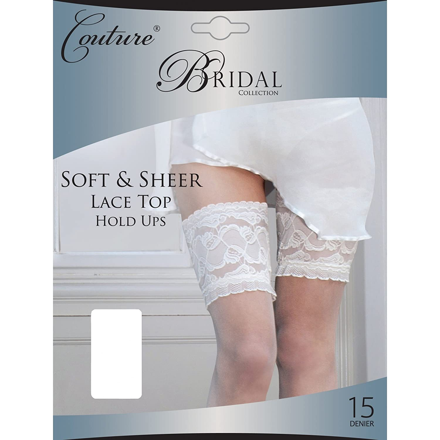 Couture Womens/Ladies Bridal Soft & Sheer Lace Top Hold Ups (1 Pair)