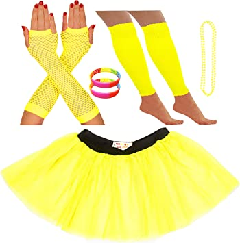breve neon giallo NUOVI scaldamuscoli guanti