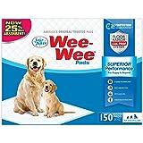 """Wee Wee - almohadillas para orejas para orina de cachorro para perros, Regular, Original (Puppy): 22.5"""" x 23"""", Paquete de 150"""