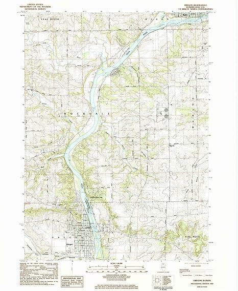 Amazon Com Yellowmaps Oregon Il Topo Map 1 24000 Scale 7 5 X 7 5