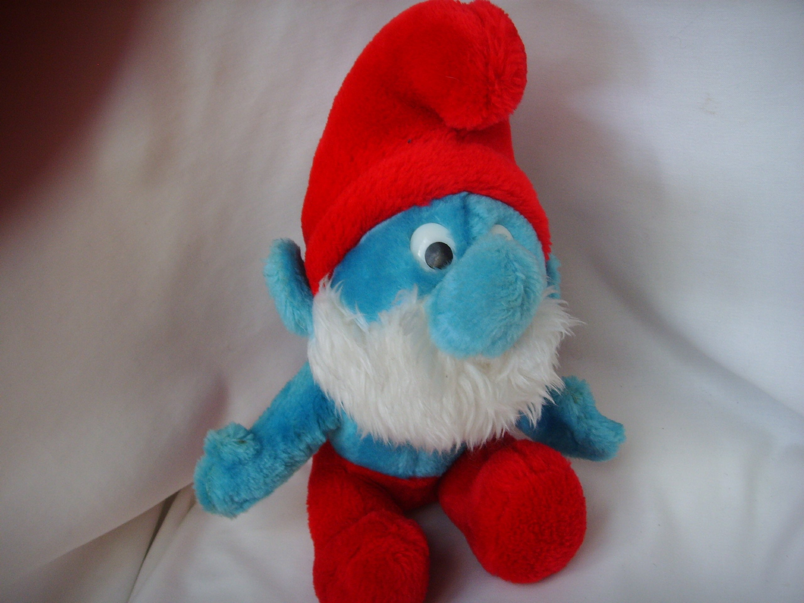 Smurf Plush Toy Large 12'' Vintage Collectible ; 1979 by Wallace Berrie & Co