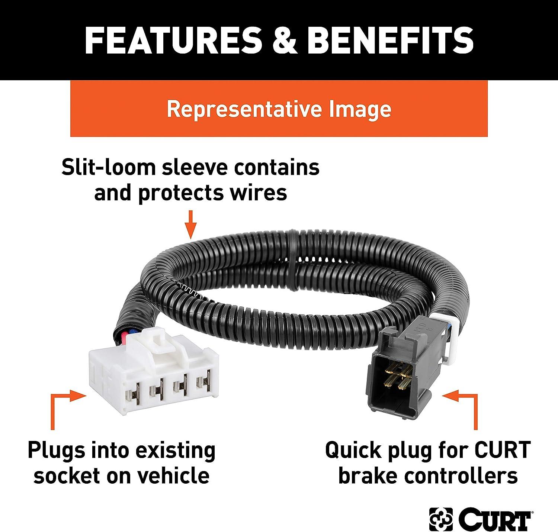 Select Dodge Ram 1500 Durango 3500 CURT 51332 Quick Plug Electric Trailer Brake Controller Wiring Harness Chrysler Aspen 2500 Dakota