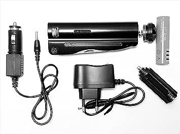 Linterna multifunción recargable LED Ultra potente 5 tipos de iluminación  surpuissant cuerpo aluminio ideal camping Pesca Deportes de ocio (220 ... 50f97c892ad8