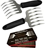 Pulled Pork Shredder Rakes - STAINLESS STEEL BBQ MEAT CLAWS - Shredding Handling & Carving Food From Grill Smoker or Slow Cooker - Metal Barbecue & Crock Pot Handler Accessories by Cave Tools